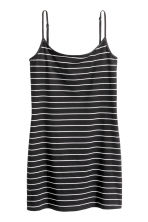 Long jersey strappy top - Black/Striped - Ladies | H&M CN 2